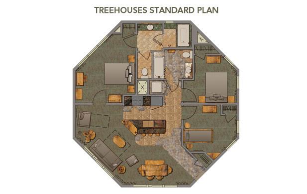 disney treehouse villas floor plan