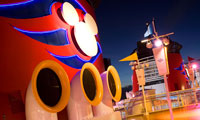 The three ship stacks on board Disney Cruise Line