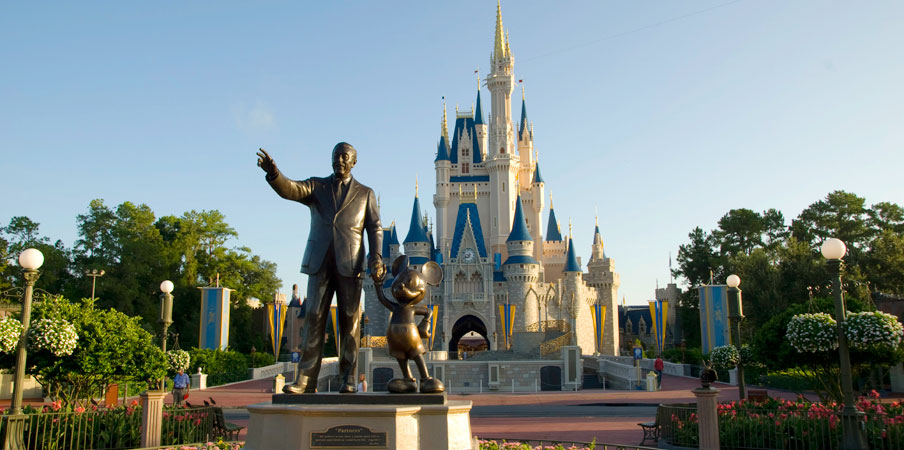 Partners Statue of Walt Disney & Mickey Mouse at Walt Disney World