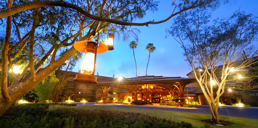 Dusk in front of Disney's Animal Kingdom Lodge - Jambo House