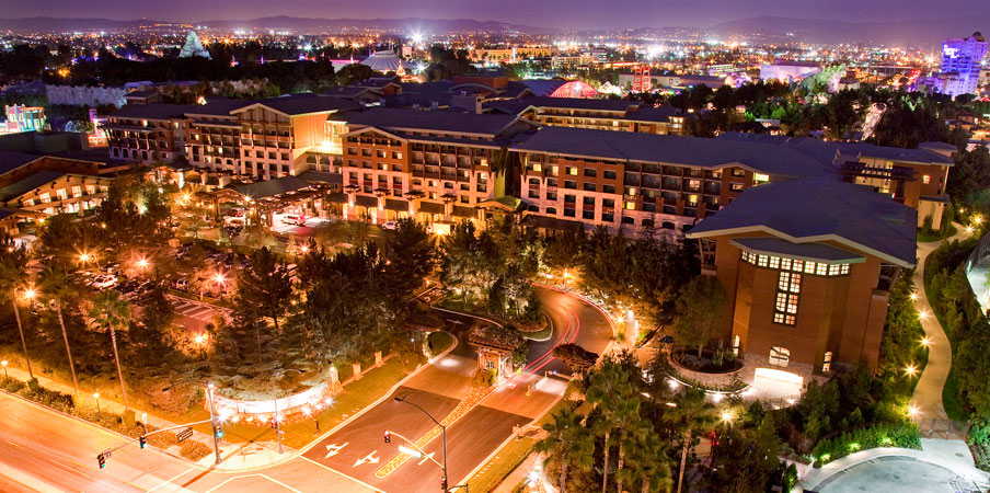 Bird's-eye view of Disney's Grand California Hotel & Spa