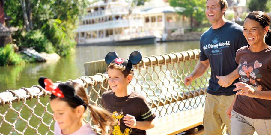 Family on vacation in Walt Disney World
